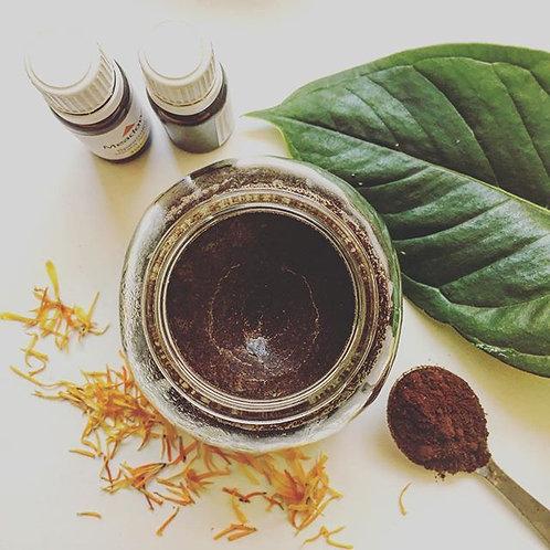 Coffee+sugar+coconut oil scrub