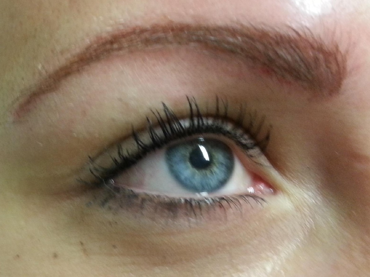 Eyebrow and Top Eyeline Tattoo