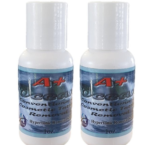 A+ Ocean Tattoo Removal Solution 1.5 Ounce (44mL) 2 PACK