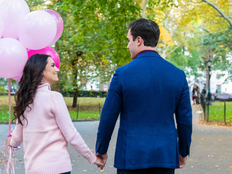 Madison Park NYC Couple Shoot - Its a Girl!