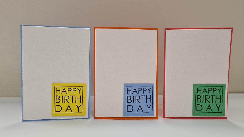 Verjaardagskaart pakket van 3