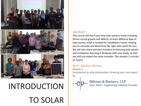 E-book professional solar training is released.