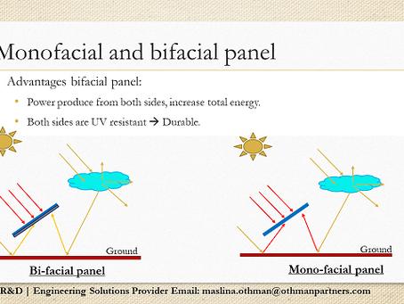 Perbezaan antara monofacial dan bifacial solar panel