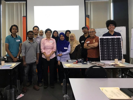 3rd Professional Solar Training in Malaysia, the home for premium Silicon-based solar companies.