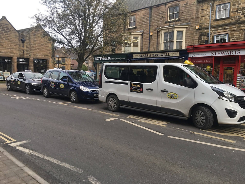 Pacman Taxis in Bakewell