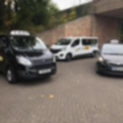 Taxi fleet in Bakewell