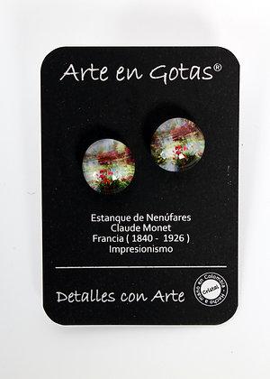 Pendientes tipo Botón - Plata de Ley (Ref.050)
