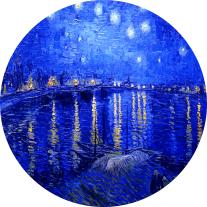 Noche Estrellada sobre el Ródano - van Gogh