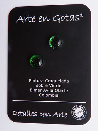 Pendientes tipo Mini Botón - Plata de Ley(Ref. VE)