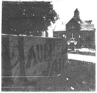Haunted Jail with Hearse and Sign 1982