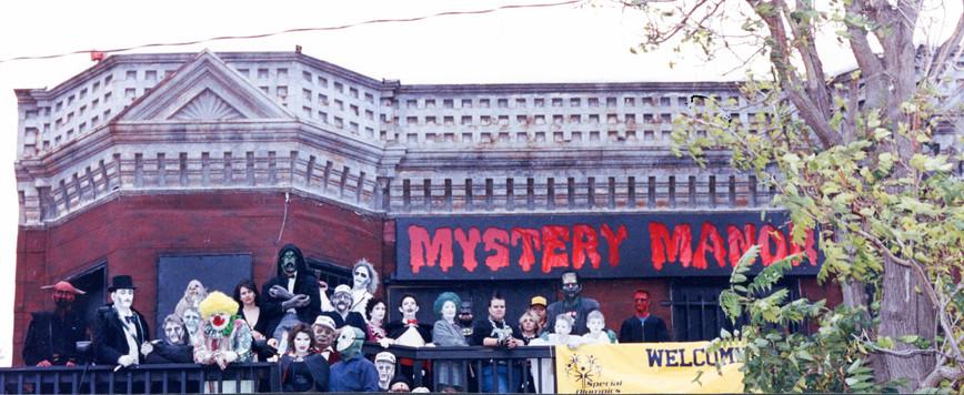 Mystery Manor Crew on Balcony