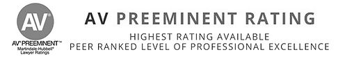 George Rosenzweig holds the AV Preeminent Ratng from Martindale-Hubbell Lawyer Ratings, the highest rating available based on a peer ranked level of professionl excellence.