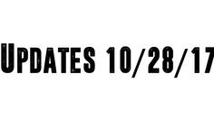 Update 10/28/17
