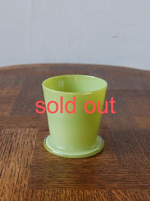dripper glass -olive green-