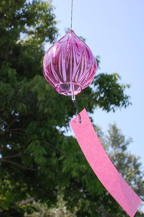 風鈴「しずく」ピンク Ⅱ