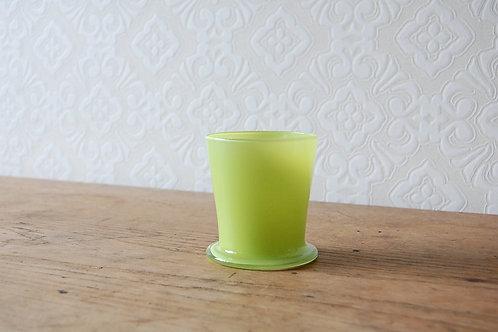 dripper glass -lime green-