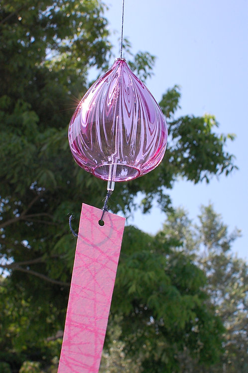 風鈴「しずく」ピンク Ⅰ