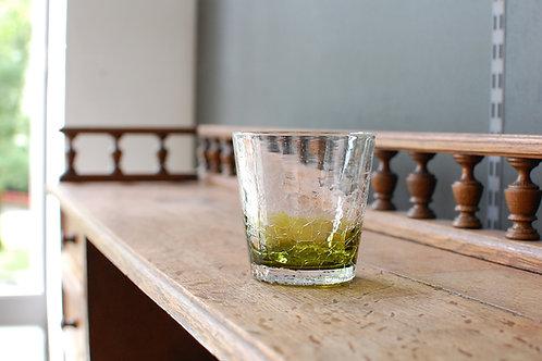 icecrack glass olivegreen