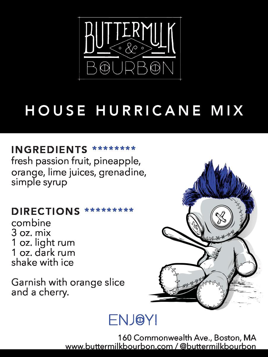 Hurricane Drink Label