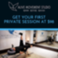 Get your first private session at $98 (1