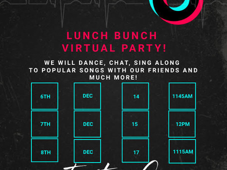 RMS Lunch Bunch Virtual Party