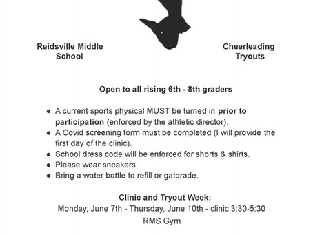 RMS Cheerleading Tryouts