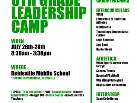 Rising 6th Grade Leadership Camp
