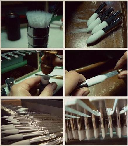 ESCODA  Perla-Filbert Tip Series  白色東麗尼龍毛榛子型筆頭系列