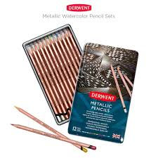 Derwent Metallic Pencils set (3.4mm lead)  金屬色顏色鉛筆套裝