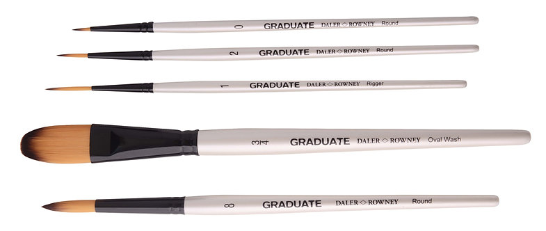 Graduate 5 Brush SyntheticW/C Landscape Set       Graduate 多用途畫筆5支套裝