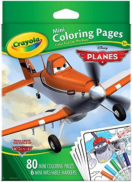 Crayola Mini Coloring Pages - Disney Car   千色樂兒童千色樂迷你填色簿+筆套裝