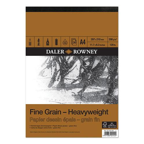 Daler-Rowney Grain Heavy Weight Cartridge Pad 30's x 200gsm     厚繪畫