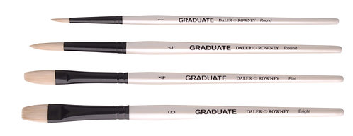 Graduate 4 Brush Bristle Set  Graduate 多用途畫筆4支套裝