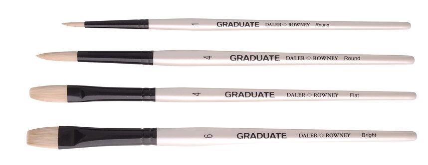 Graduate 4 Brush Bristle Set  Graduate 多用途畫筆4支套裝