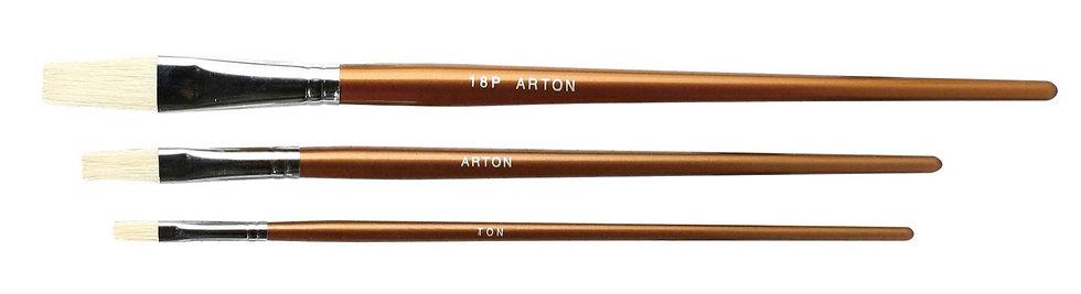 """Hoghair Brush Set(1/4"""",3/8"""",3/4"""")       扁頭豬鬃毛畫筆 (1/4"""",3/8,3/4"""")"""
