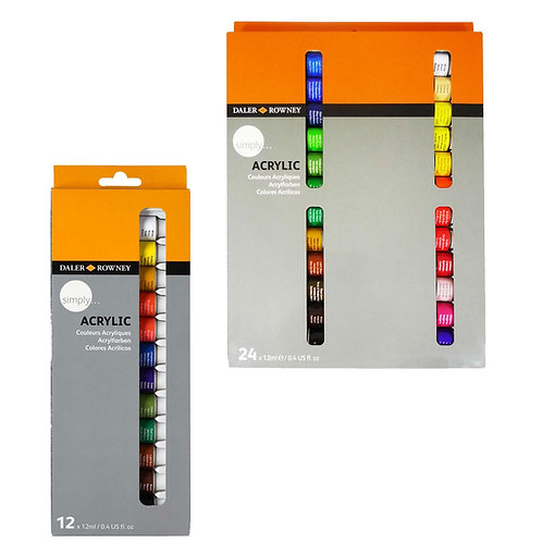 Rowney Simply Acrylic Set 12ml x24col- Simply套裝丙稀顏色 24色