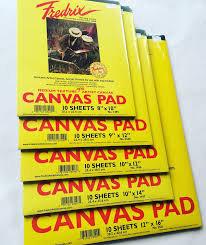 Fredrix Canvas Pad      不同形尺寸畫布薄