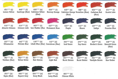 Rowney Artists' Oil      Colour 38ml Series A   威美專業油畫顏色 系列 A