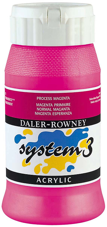 Rowney System 3 Acrylic Metallic, Fluorescent Colour-500ml 威美系列3丙稀彩-金屬/螢光色