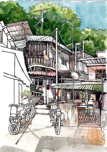 Village Houses at Sam Ka Tsuen, Lei Yue Mun