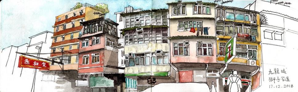 Lion Rock Road at Kowloon City