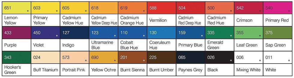 Rowney Cryla Artists' Acrylic Colour 75ml Series B 威美專家丙稀顏色 系列B