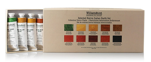 Williamsburg Native Italian Earths Oil Set    10 x 37ml
