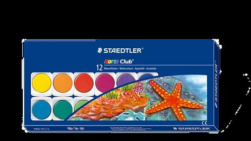 Staedtler Noris Club  Watercolour Cake 12cols          施德樓12色水彩顏色餅