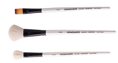 Graduate 3 Brush Natural & Synthetic W/C Set  Graduate 多用途畫筆3支套裝