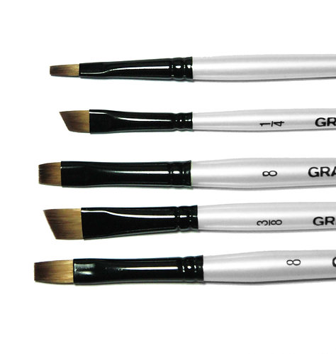 Graduate 5 Brush SyntheticFlats & Shaders Set       Graduate 多用途畫筆5支套裝