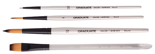 Graduate Brush Synthetic Watercolor Set      Graduate 混合毛水彩畫筆套裝