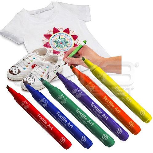 Lukas-Nerchau  Textile Art Pen Set      Nerchau 色畫布顏色筆