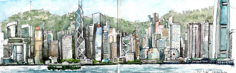 HK Skyline from Tsim Sha Tsui harbour front