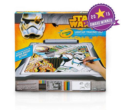 Crayola Star Wars Light-Up Tracing Pad   千色樂星球大戰填色版燈光繪圖板